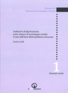 Book Cover: Indicators of deprivation as a measure of social disadvantage: the case of the Metropolitan Area of Genoa
