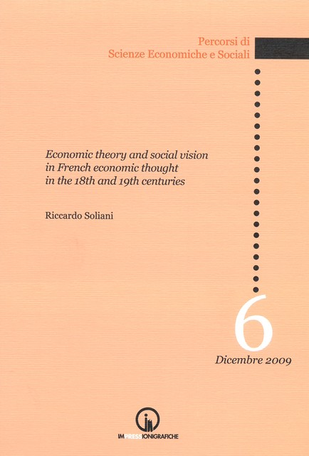 Book Cover: Economic theory and social vision in french economic thought in the 18th and 19th centuries