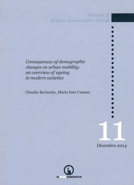 Book Cover: Consequences of demographic changes on urban mobility:  an overview of ageing in modern societies