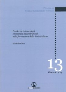 "Book Cover: Thought and action of economists in the formation of the italian State in the"" risorgimento"""